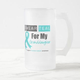 Ovarian Cancer Teal Ribbon For My Granddaughter Mug