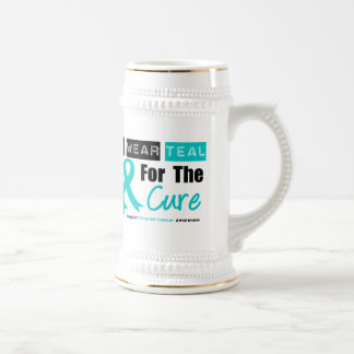 Ovarian Cancer Teal Ribbon For The Cure Coffee Mugs