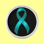 Ovarian Cancer Teal Ribbon Lapel Pin