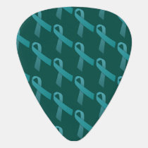 ovarian cancer Teal Ribbons awareness Guitar Pick