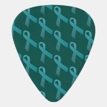 ovarian cancer Teal Ribbons awareness Guitar Pick