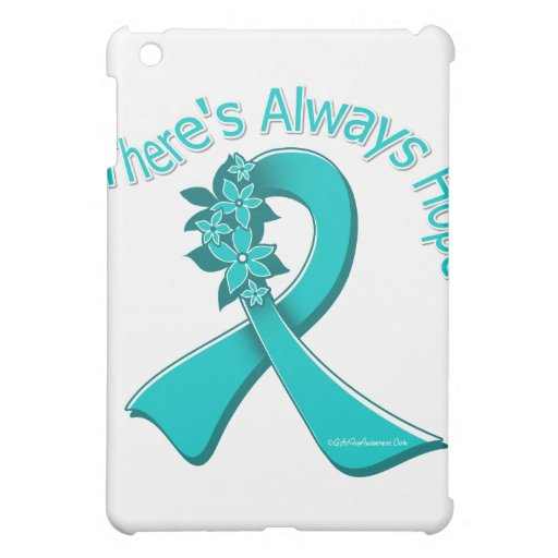 Ovarian Cancer There's Always Hope Floral iPad Mini Case
