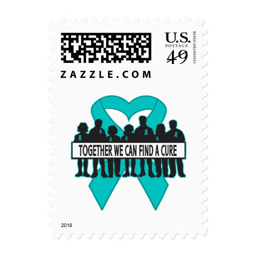 Ovarian Cancer Together We Can Find A Cure Stamps