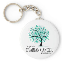 Ovarian Cancer Tree Keychain