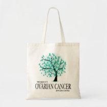 Ovarian Cancer Tree Tote Bag