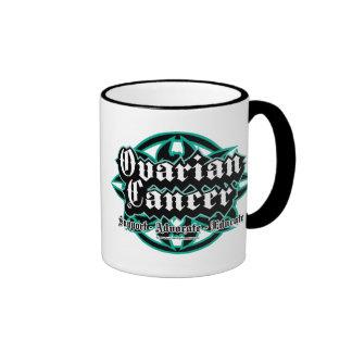 Ovarian Cancer Tribal Ringer Mug