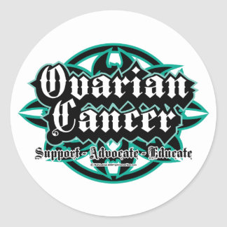 Ovarian Cancer Tribal Classic Round Sticker