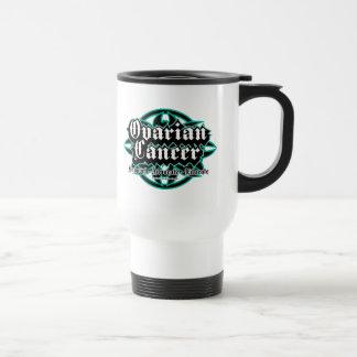 Ovarian Cancer Tribal Travel Mug