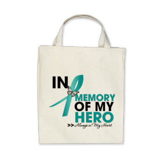 Ovarian Cancer Tribute In Memory of My Hero Bag