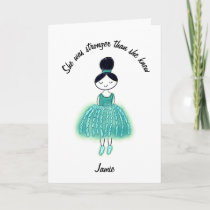 Ovarian Cancer Uplifting Quote Customizable Card