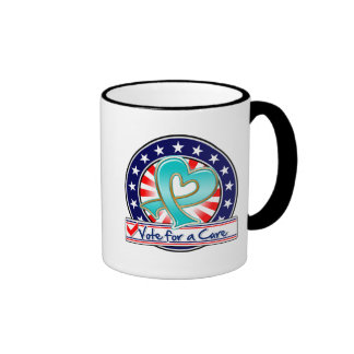 Ovarian Cancer Vote For a Cure Ringer Coffee Mug