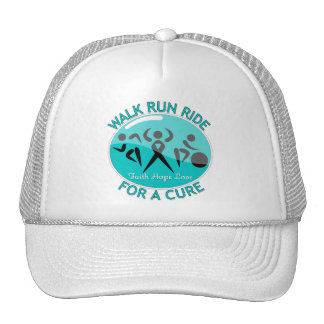 Ovarian Cancer Walk Run Ride For A Cure Trucker Hat