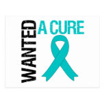 Ovarian Cancer Wanted A Cure Post Card