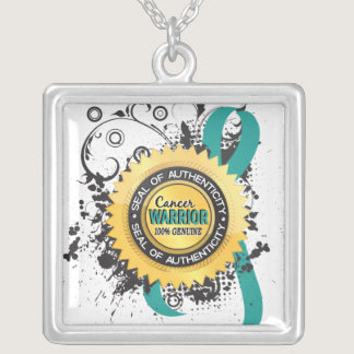 Ovarian Cancer Warrior 23 Silver Plated Necklace