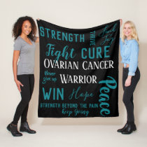 Ovarian Cancer Warrior blanket