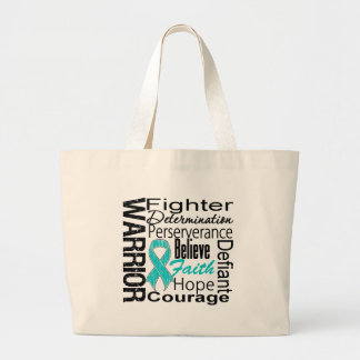 Ovarian Cancer Warrior Collage Bags