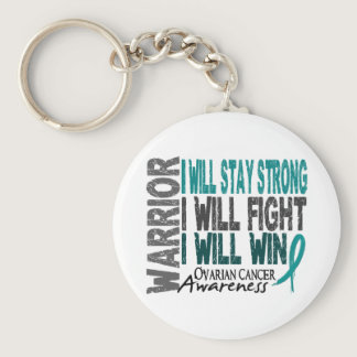 Ovarian Cancer Warrior Keychain