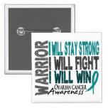 Ovarian Cancer Warrior Pinback Buttons