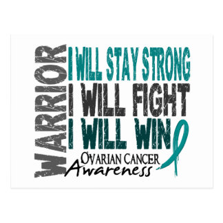 Ovarian Cancer Warrior Postcard