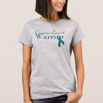 Ovarian Cancer Warrior teal ribbon T-Shirt