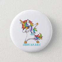 OVARIAN CANCER Warrior Unbreakable Button