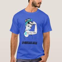 Ovarian Cancer Warrior Unbreakable Gift Awareness T-Shirt