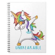 OVARIAN CANCER Warrior Unbreakable Notebook