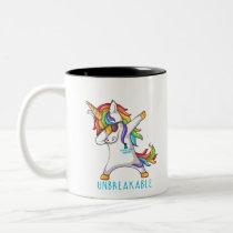 OVARIAN CANCER Warrior Unbreakable Two-Tone Coffee Mug
