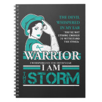 Ovarian Cancer Warrior Wife Teal Ribbon Awareness Notebook