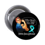 Ovarian Cancer We Can Do It Rosie The Riveter Pins