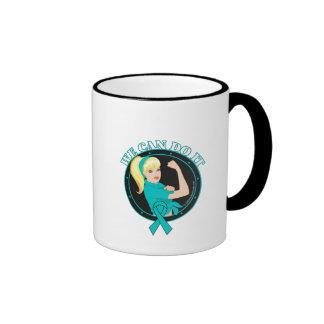 Ovarian Cancer We Can Do It (W.01) Ringer Coffee Mug