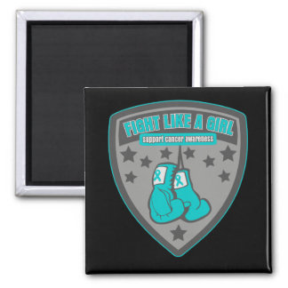Ovarian Cancer Wear Fight Like A Girl Patch Magnet