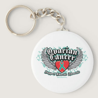 Ovarian Cancer Wings Keychain