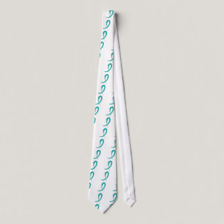 Ovarian Cancer's Teal Ribbon A4 Tie