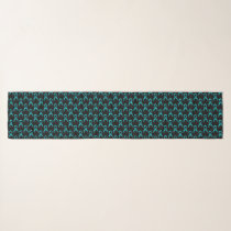 Ovarian Cervical Cancer Teal Ribbon Scarf