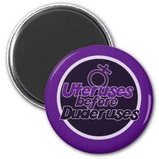 Ovaries Before Brovaries 2 Inch Round Magnet
