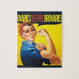 Ovarios antes del humor de la feminista de Brovari Rompecabeza