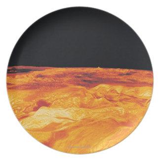 Ovda Regio en Venus Platos De Comidas
