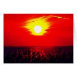 Ove el lago Hurón de la puesta del sol Tarjetón