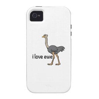 Oveja del amor vibe iPhone 4 funda