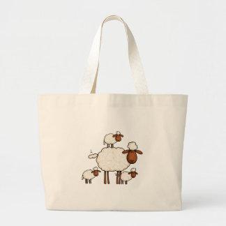 oveja del amor (ningún txt) bolsa tela grande
