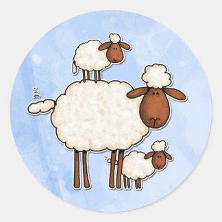 oveja del amor (ningún txt) pegatina redonda