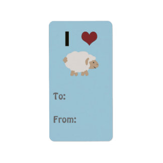 Oveja del corazón I (amor) (usted) Etiqueta De Dirección