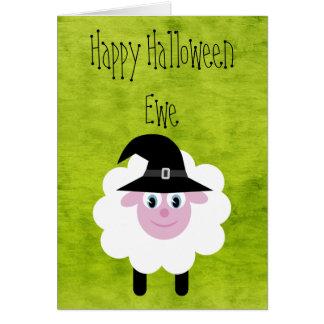 Oveja del feliz Halloween Tarjeta De Felicitación