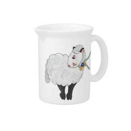 ¡Oveja no gorda, oveja mullida! Jarras Para Bebida