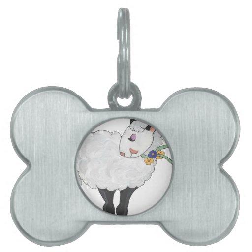 ¡Oveja no gorda, oveja mullida! Placa De Nombre De Mascota