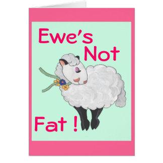¡Oveja no gorda! Felicitación