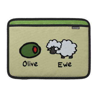 Oveja verde oliva funda  MacBook