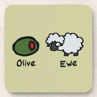 Oveja verde oliva posavasos