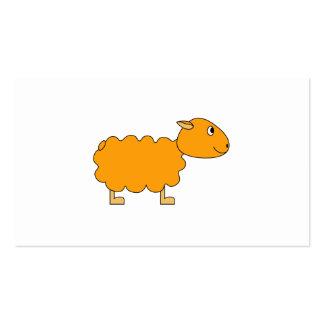 Ovejas anaranjadas tarjetas de visita